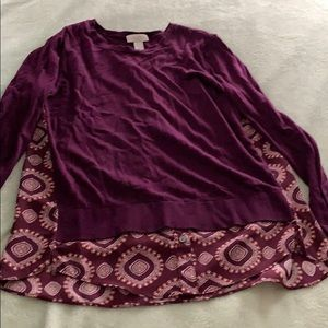 Ann Taylor loft m medium mixed sweater top shirt